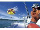 【沖縄・名護】やんばる絶景パラセーリング ジュゴンの見える丘の海で有名なカヌチャリゾートにGOの様子