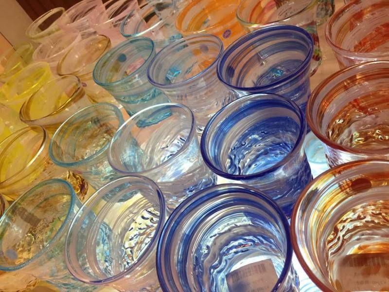 沖縄 琉球ガラス グラス作り
