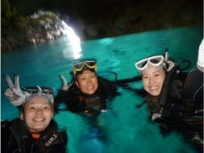 【Okinawa · Onna Village】 Blue Cave Beach Experience Diving! Pictures / videos Pictures of presents ♪ on the spot