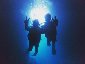 [Okinawa Blue Cave Experience Diving] 5 ★ Review number 1st plan charter! GOPRO photo movie immediately smartphone free transfer ♪ free towel sandals Rental filling in the Review ♪