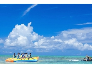 【福岡・博多湾】雁の巣ビーチでビスケット体験 or バナナボート体験の画像