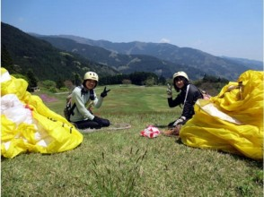 【Ehime or Kochi】 First flight experience ♪ Paraglider Half-day experience course image