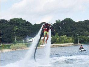 【静岡・浜名湖】<新感覚の面白さ!>初めての方歓迎!ジェットパック体験(15分コース)の画像