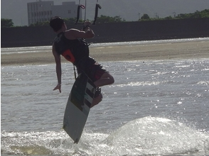 [Kyushu, Kagoshima] Those traveling trick practice is here! Kite board experience (step-up lessons)