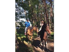 享受[山梨縣Kobuchizawa]父母和孩子!拉動馬森林漫步圖片