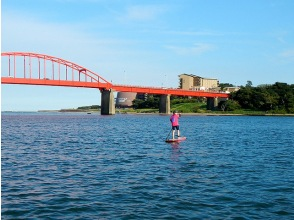 [Ibaraki, Oarai coastal] SUP River cruise course