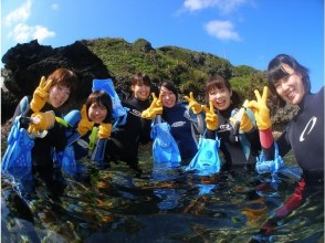 [Okinawa Onna] female guide specified! Full charter! Blue cave snorkeling photography and with SD card gift