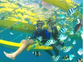 【糸満】<サーターアンダギー付!>最新アクティビティで海中世界を楽しもう!ウォーターバード体験の画像