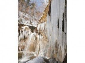 【北海道・千歳市支笏湖】氷の芸術 名瀑七条大滝スノーシューツアーの画像