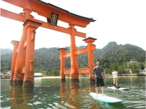 Cruising the sea of [Hiroshima and Miyajima] World Heritage Site! SUP experience School (half day course)