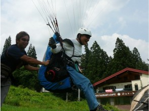 [Nagano Hakuba] Tandem & mini experience course! Fly with the instructor after experiencing alone