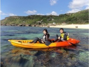 [Okinawa Miyakojima] sea kayaking C course limestone cave exploration and experience diving with lunch