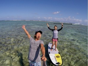 【Okinawa · Onna Village】 Secure shop set! Guide monopoly! SUP Experience Course Photo Shoot + SD Card Present! Image of