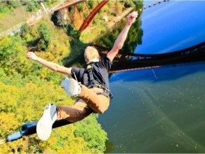 "【Nara · Misato Town】 Wishing for a good luck from a maximum height of 30 meters! Kansai Yuichi ""Portable Bungee"" ★ Image with action camera rental ★"