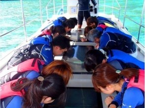 【Okinawa · Irabu-jima】 Blue cave standard plan! Sea kayak & snorkel & glass boat image of seabed tour