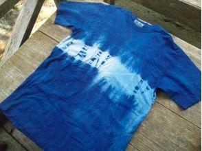 [沖繩國頭郡,傳統文化體驗]在被自然癒合藍染體驗♪手工製作靛藍T卹圖片
