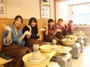 【Kyoto · Yasaka · Ceramics】 You can easily do it in about 30 minutes! Let's make my cup with electric powered wheel! Image of
