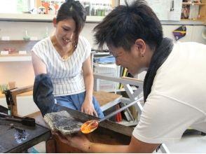 【岡山・岡山市】初心者もキッズも歓迎!吹きガラス体験 お試しコースの画像