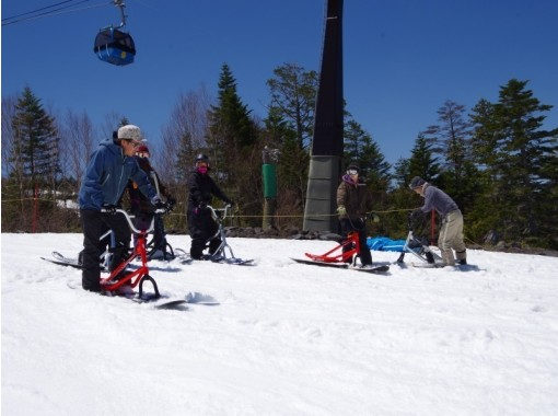 【長野・佐久穂町】新スノースポーツにチャレンジ!スノーバイクスクール「八千穂高原スキー場」