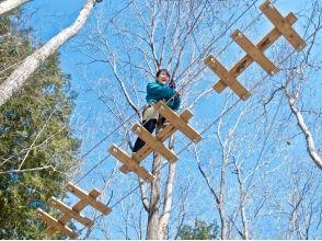 【長野・軽井沢】樹上でダイナミックな体験を!フォレストアドベンチャー(アドベンチャーコース)の画像