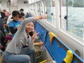 Comfortable smelt fishing in the [Yamanashi Yamanakako] solar power dome ship! Image of [with benefits]