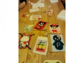 【Hokkaido · Furano】 Wool craft wall covering making 2 hour course