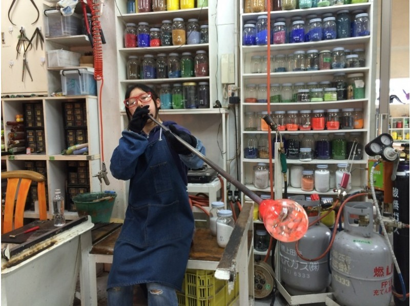 [Nagano glass blowing experience Cop] experience a full-fledged blown glass of the process! Introduction image of trying to make the only cup his