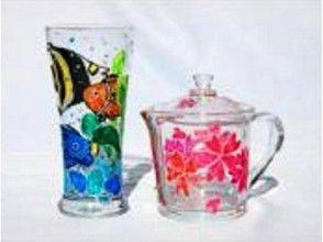 【沖縄・ガラス絵付け体験】ステンドグラスのような美しさ!ガラスアート体験の画像