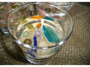 【Kyoto Prefecture Tango City · Craft Experience】 It looks like inside the sea! Fashionable marine candle making image