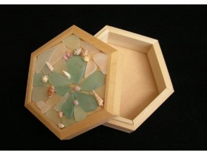 [Kyoto FuKyo Tango City and craft experience] sea of treasure box memories is jammed ☆ hexagonal box-making image