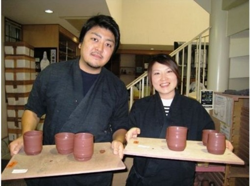 [Shizuoka/Izukogen] Recommended for gifts! Let's make a cup with a paulownia box! Couple making teacup experience with electric potter's wheelの紹介画像