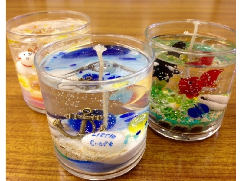 "[Kobe City, Hyogo Prefecture] Glitter is beautiful! ""Aroma gel Candle making""の紹介画像"
