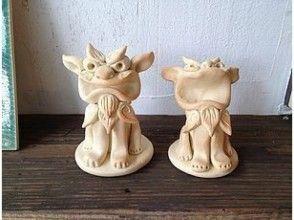 【沖縄の陶芸作家の工房で立シーサー作り】思い出作りに表情豊かな自分だけのシーサーを!