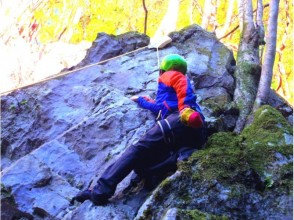 [Okutama rock climbing] welcome the first one! Climb a natural rock!