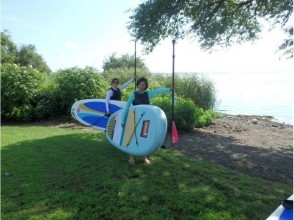 【滋賀・琵琶湖】レンタル込み!琵琶湖で水上散歩SUP上達(経験者コース)の画像