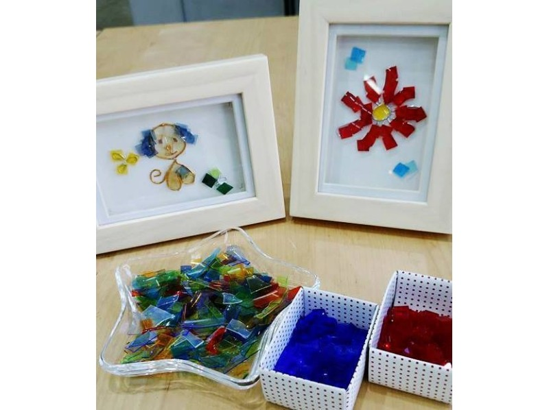 Painting creative to make with [Gunma Prefecture glass picture glass! Introduction image of glass picture experience