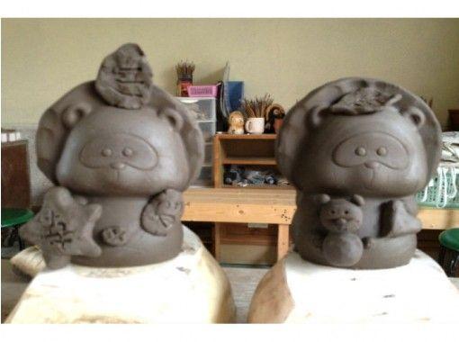 【滋賀県・信楽 陶芸体験】型押したぬきで、手軽に陶芸体験をしよう(約90分)