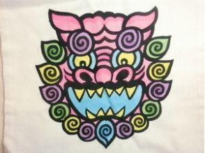 【沖縄・国頭郡 染物体験】トートバック(Mサイズ)にシーサーの色差しをしようの画像