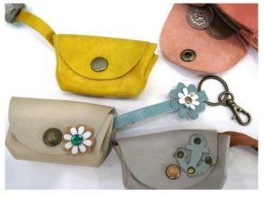【兵庫県・ものづくり体験】縫わなくてもOK!ストラップ付きのコインケース作り体験の画像