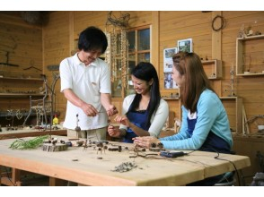 [Mie Prefecture Wood Craft experience] decorate to create a stylish door plate