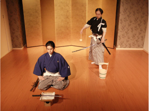 [Kyoto Samurai experience] to watch a demonstration simple lessons undergo will of image