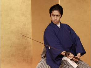 【Kyoto Prefecture · Samurai Experience】 Picture of trying a full-scale sword dance by watching a demonstration