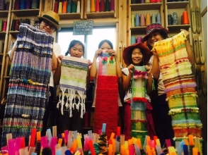 【Osaka / Kita-ku】 Have fun hand-woven experience from children to adults! Image of making a stole or table center