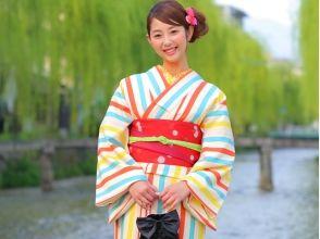[京都東山區]汗衫和和服,腰帶,帶,袋,自由選擇涼鞋的6分!和服租賃的圖片(選擇方案)