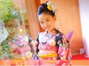 [京都東山區]¥3218(含稅)為孩子們5歲的年齡也變成了和服!和服租賃的圖片(小孩計劃)
