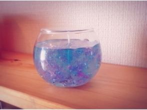 "【Tokyo · Mizumi Miyae】 Choice your favorite color and scent. Image of making an original ""Aroma gel candle"" shining sparkle"