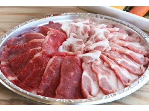 【三重・伊勢】手ぶらでバーベキュー![国産牛肉&豚肉+フランクフルト+季節の野菜3種セット]