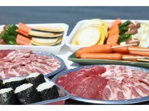 【三重・伊勢】手ぶらでバーベキュー![伊勢志摩の海鮮5点+国産牛・豚肉+季節の野菜3種セット]の画像