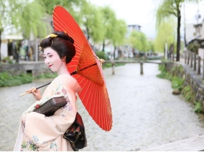 [Kyoto Higashiyama-ku, an image of a full-fledged geisha experience by a skilled professional (up to shooting from the dressing!)