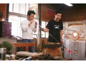 """[Yamanashi/ Otsuki] Let's make an original work with a real blown glass experience """"Slow blowing""""! Come on the On the day OK and empty-handed!"""